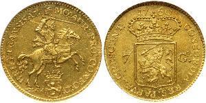 7 Gulden Dutch Republic (1581 - 1795) Gold