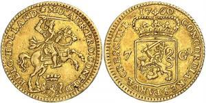 7 Gulden Republik der Sieben Vereinigten Provinzen (1581 - 1795) Gold