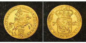 7 Gulden Provincias Unidas de los Países Bajos (1581 - 1795) Oro