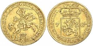 7 Gulden Repubblica delle Sette Province Unite (1581 - 1795) Oro