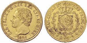 80 Ліра Italian city-states Золото Charles Felix of Sardinia