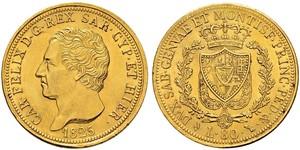 80 Lira Italian city-states Gold Karl Felix (Sardinien-Piemont)
