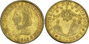 8 Ескудо Еквадор Золото