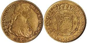 8 Ескудо Нова Іспанія (1519 - 1821) Золото Карл IV король Іспанії  (1748-1819)