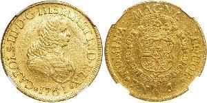 8 Ескудо Нова Ґранада (1717 - 1819) Золото Карл III король Іспанії (1716 -1788)