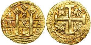 8 Ескудо Перу Золото Філіп V король Іспанії  (1683-1746)