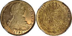 8 Ескудо Чилі Золото Карл IV король Іспанії  (1748-1819)