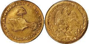 8 Ескудо Second Federal Republic of Mexico (1846 - 1863) Золото