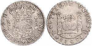 8 Реал Новая Испания (1519 - 1821) Серебро Филипп V король Испании (1683-1746)