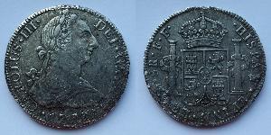 8 Реал Новая Испания (1519 - 1821) Серебро Карл III король Испании (1716 -1788)