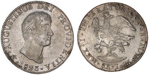 8 Реал Первая Мексиканская империя (1821 - 1823) Серебро