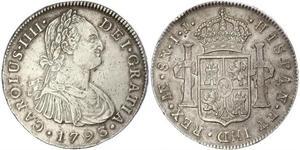 8 Реал Перу Серебро Карл IV король Испании (1748-1819)
