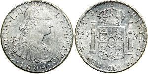 8 Реал Рио-де-ла-Плата (вице-королевство) (1776 - 1814) / Боливия Серебро Карл IV король Испании (1748-1819)