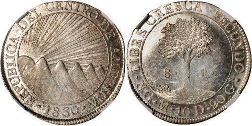 8 Реал Соединённые Провинции Центральной Америки (1823 - 1838) / Гватемала Серебро