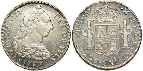 8 Реал Чили Серебро Карл III король Испании (1716 -1788)