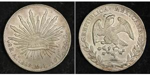 8 Реал Second Federal Republic of Mexico (1846 - 1863) Серебро