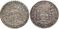 8 Реал Іспанська Імперія (1700 - 1808) Срібло Карл III король Іспанії (1716 -1788)