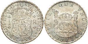 8 Реал Віце-королівство Перу (1542 - 1824) / Болівія Срібло Карл III король Іспанії (1716 -1788)
