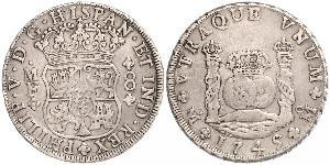 8 Реал Нова Іспанія (1519 - 1821) Срібло Філіп V король Іспанії  (1683-1746)