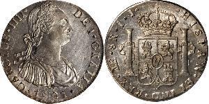 8 Реал Перу Срібло Карл IV король Іспанії  (1748-1819)