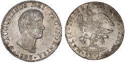 8 Реал Перша Мексиканська імперія (1821 - 1823) Срібло