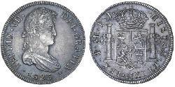 8 Реал Ріо-де-ла-Плата (віце-королівство) (1776 - 1814) / Болівія Срібло Фердинанд VII король Іспанії (1784-1833)