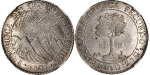 8 Реал Центральноамериканська федерація (1823 - 1838) / Гватемала Срібло