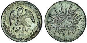 8 Реал Second Federal Republic of Mexico (1846 - 1863) Срібло