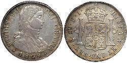 8 Реал  Срібло Фердинанд VII король Іспанії (1784-1833)