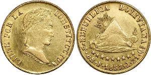 8 Эскудо Многонациональное Государство Боливия (1825 - ) Золото