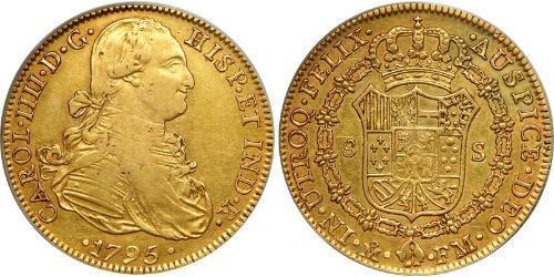 8 Эскудо Новая Испания (1519 - 1821) Золото Карл IV король Испании (1748-1819)