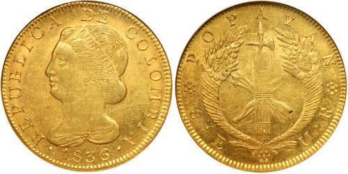 8 Эскудо Республика Новая Гранада (1831–1858) Золото