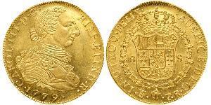 8 Эскудо Рио-де-ла-Плата (вице-королевство) (1776 - 1814) / Боливия Золото Карл III король Испании (1716 -1788)