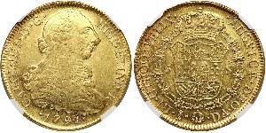 8 Эскудо Чили Золото Карл IV король Испании (1748-1819)