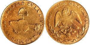 8 Эскудо Second Federal Republic of Mexico (1846 - 1863) Золото