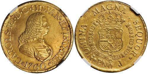 8 Escudo 新格拉納達總督轄區 (1717 - 1819) 金 卡洛斯三世 (西班牙) (1716 -1788)