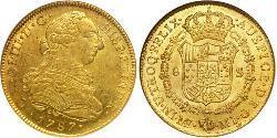 8 Escudo 秘鲁 金 卡洛斯三世 (西班牙) (1716 -1788)