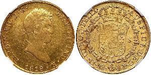 8 Escudo 秘鲁 金 费尔南多七世 (1784 - 1833)