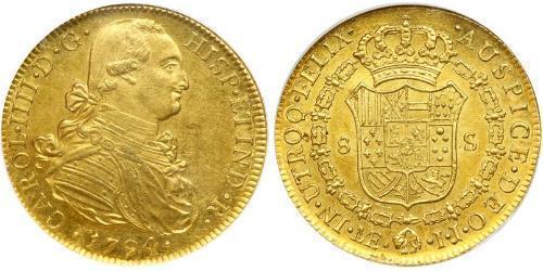 8 Escudo 秘鲁 金 卡洛斯四世 (1748-1819)