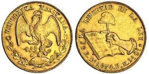 8 Escudo Second Federal Republic of Mexico (1846 - 1863) 金