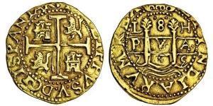 8 Escudo 秘鲁 黃銅 Philip V of Spain(1683-1746)