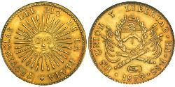 8 Escudo Argentine Republic (1861 - ) Gold