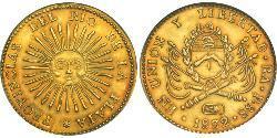 8 Escudo Argentinien (1861 - ) Gold