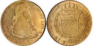 8 Escudo Bolivia Gold Charles IV of Spain (1748-1819)
