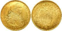 8 Escudo Bolivien Gold Karl IV (1748-1819)