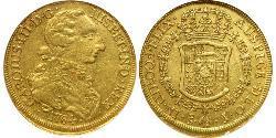 8 Escudo Chile Gold Karl III. von Spanien (1716 -1788)