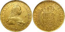 8 Escudo Chile Gold Ferdinand VI of Spain (1713-1759)
