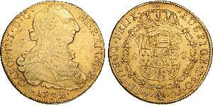 8 Escudo Chile Gold Charles IV of Spain (1748-1819)