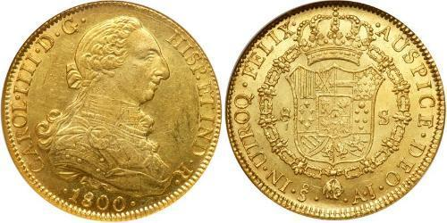 8 Escudo Chile Gold Karl IV (1748-1819)
