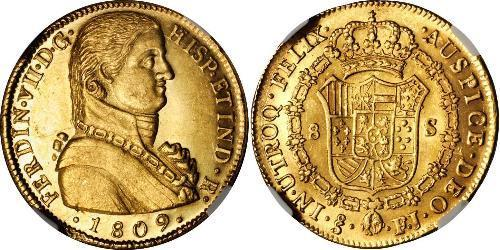 8 Escudo Chile Gold Ferdinand VII of Spain (1784-1833)